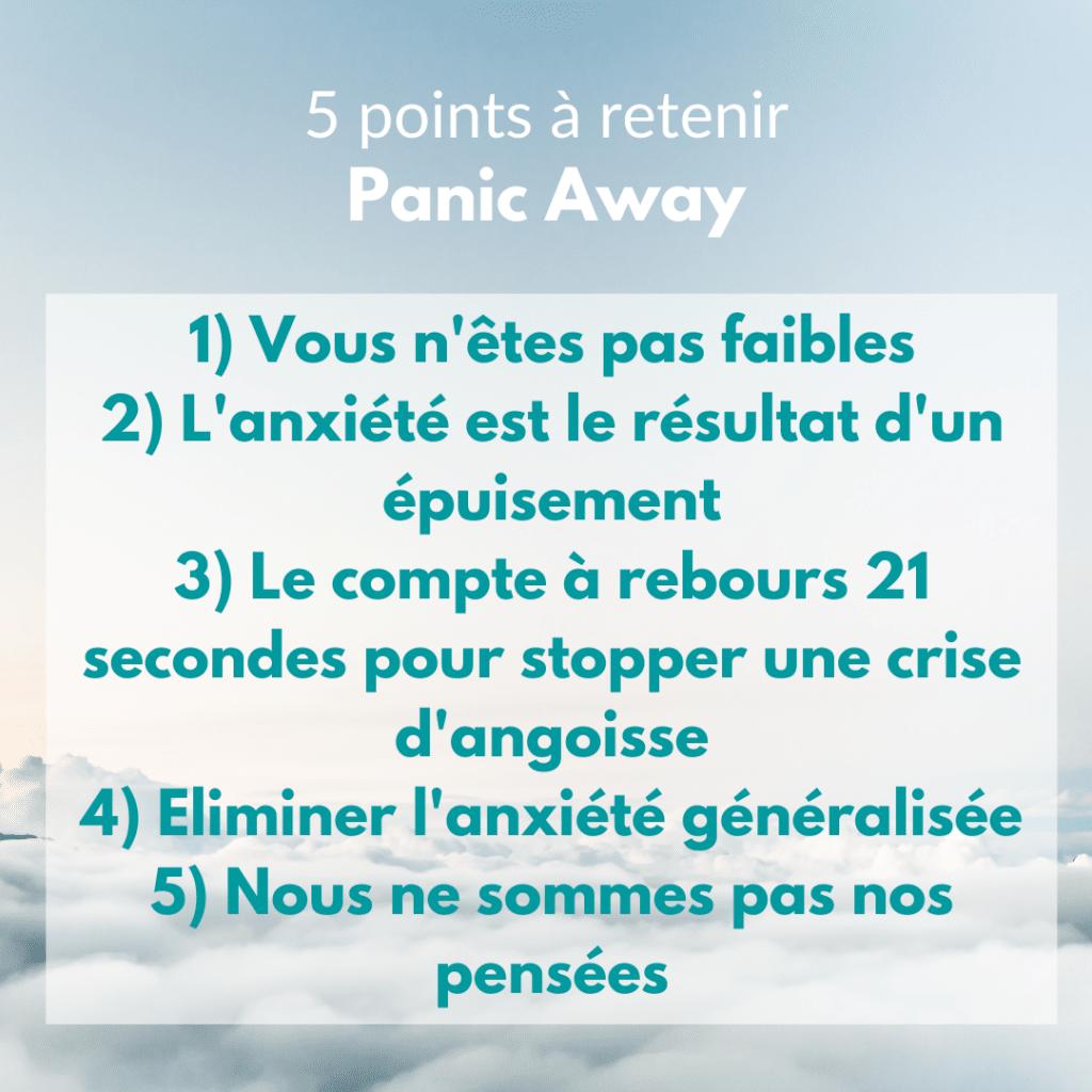5 points à retenir panic away