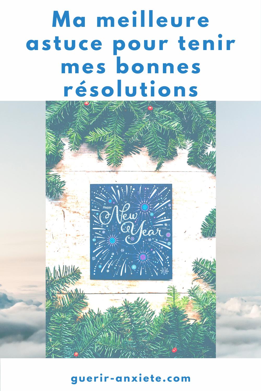astuce bonnes résolutions